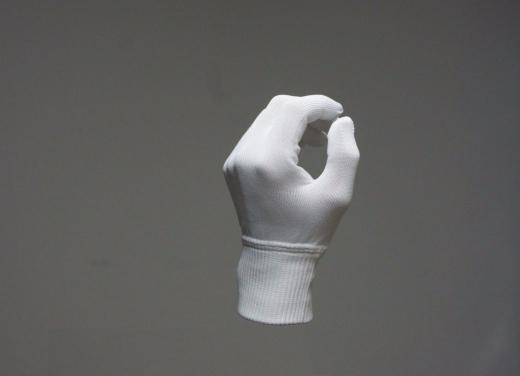 100% Polyester-Microfaser Handschuhe, weiße Handschuhe, 100 % Mikrofaser