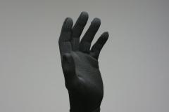 100% Polyester-Microfaser Handschuhe, schwarze Handschuhe, Microfaser